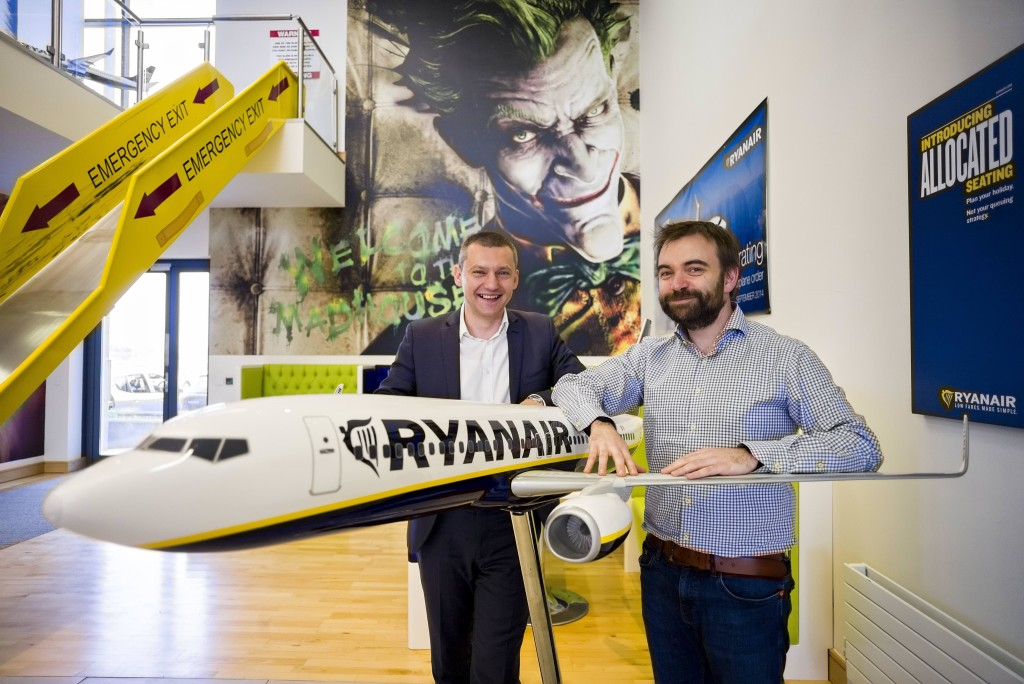 Comtrade will help Ryanair become a digital travel leader following major deal. Pictured (L-R) are: Dejan Cušic, Solutions and Services Business Director, Ireland & UK, Comtrade; and John Hurley, CTO, Ryanair.